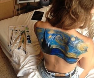art, bodypaint, and cosy image