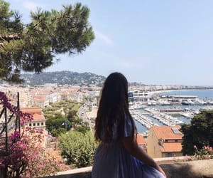 blue, brunette, and cannes image