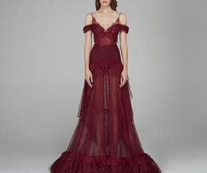 burgundy, Couture, and fashion image