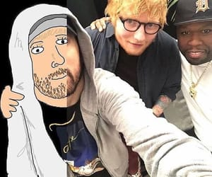 50 cent, eminem, and funny image