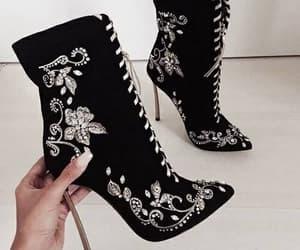 black, fashion, and shoe image