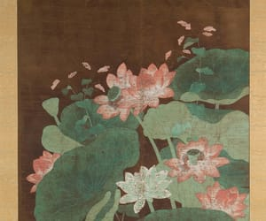 flower, textile design, and silk painting image