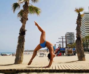 beach, gymnastics, and ponte image