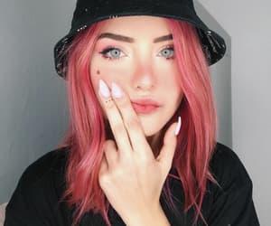 meninas, pink hair, and cabelo rosa image