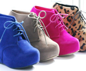 shoes, blue, and pink image