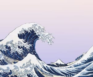 wallpaper, background, and waves image