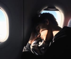airplane, boy, and Hot image