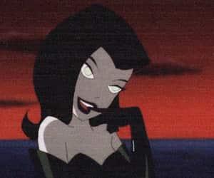 cartoon, black, and goth image