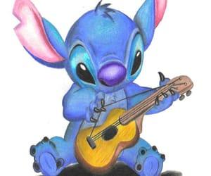 stitch, guitar, and disney image