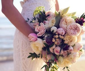 bouqet, bridal, and flowers image