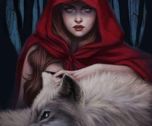 wolf, art, and red riding hood image