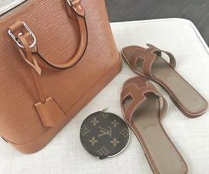 beige, details, and flip flops image