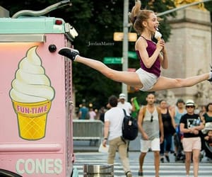 ballet, ice cream, and woman image