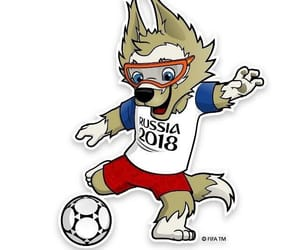 football, mascot, and rusia 2018 image