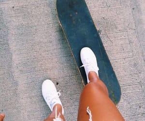skateboard, summer, and skate image