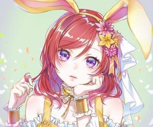 anime girl, beautiful, and easter image