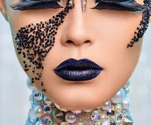 make up, sirena, and maquillaje image
