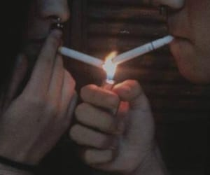 cigarette, dark, and tumblr image