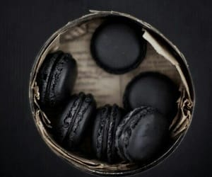 food, pure black, and macaroons image