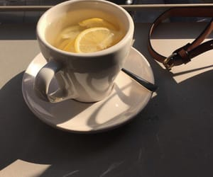 lemon, tea, and yellow image