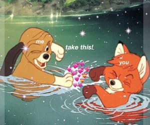 disney, friends, and the fox and the hound image