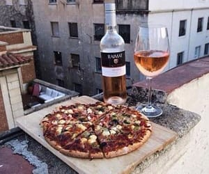 roof, vintage vibe, and pizza and drinks image