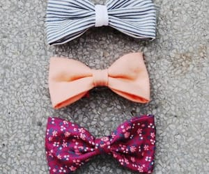 bow, pink, and flowers image