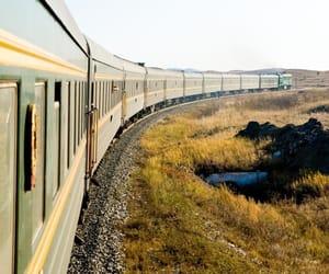 green, railroad, and railway image
