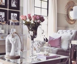 grey, mirror, and home decor image