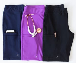 fashion, nursing scrubs, and medical scrubs image
