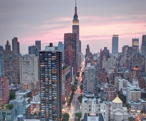 empire state building, new york city, and new york image