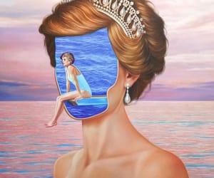 painting, princess diana, and saint hoax image