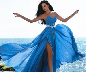 Bleu, dress, and robe image