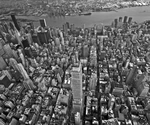 aerial view, usa, and midtown manhattan image