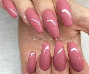 long, pink nails, and simple nails image