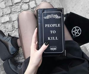 black, book, and nails image