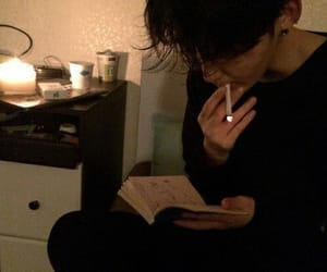 boy, asian, and cigarette image