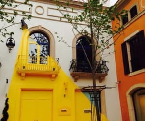 house, yellow, and architecture image