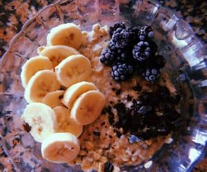 banana, breakfast, and chocolatte image