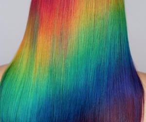 arcoiris, hair, and melena image