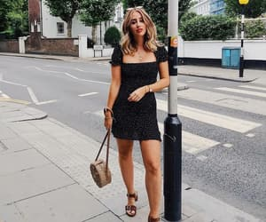 black dress, look, and outfit image
