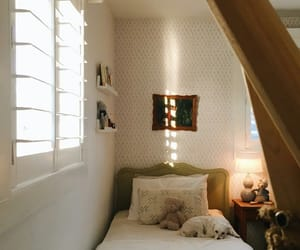 interiors, vintage style, and farmhouse bedroom image