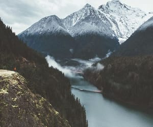 nature, mountains, and river image