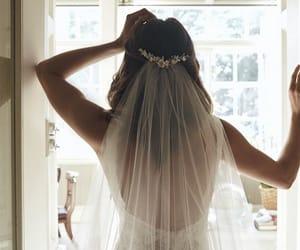 tiara, wedding, and wedding dress image