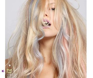 blonde, candy, and hair image