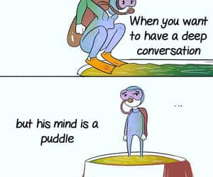 conversation, puddle, and mind image