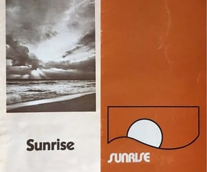 1970s, illustration, and sunrise image