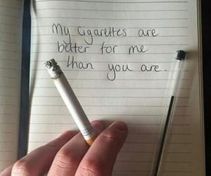 cigarette, quotes, and smoke image