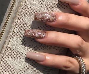 nails, bag, and glitter image