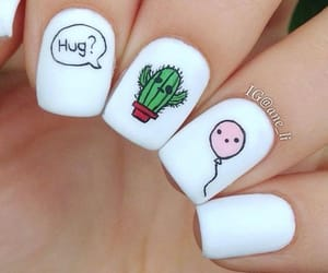 nails, manicure, and cute image